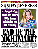 May 03, 2021 - UK: Front-page: Today's Newspapers In United Kingdom