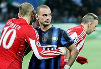 Milano, 23/02/2011<br /> Champions League/Champions League/Inter-Bayern Monaco<br /> Sneijder saluta Robben e Ribery