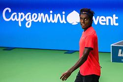 October 15, 2018 - Stockholm, SVERIGE - 181015 Sveriges Elias Ymer under fÅ¡rsta omgÅ'ngen av tennisturneringen Stockholm Open den 15 oktober 2018 i Stockholm  (Credit Image: © Simon HastegRd/Bildbyran via ZUMA Press)