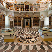 VARNA, ITALY - OCTOBER 13:  A view of the library at Abbazia di Novacella with more than 20,000 volumes dating back to the XIII Century on October 13, 2010 in Varna, Italy. Abbazia di Novacella, in Alto Adige established in the year 1142 by Augustinian monks, is one of the oldest vineries in the world; it has a production of about 400,000 bottles of world class wines including Kerner, Sylvaner, Pinot Grigio, Gewurztraminer.