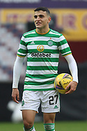 Mohamed Elyounoussi (Celtic) after his three goals during the Scottish Premiership match between Motherwell and Celtic at Fir Park, Motherwell, Scotland on 8 November 2020.