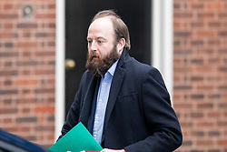© Licensed to London News Pictures. 08/02/2017. London, UK. Joint Downing Street Chief of Staff Nick Timothy leaves Downing Street to attend Prime Minister's Questions in Parliament. Photo credit : Tom Nicholson/LNP