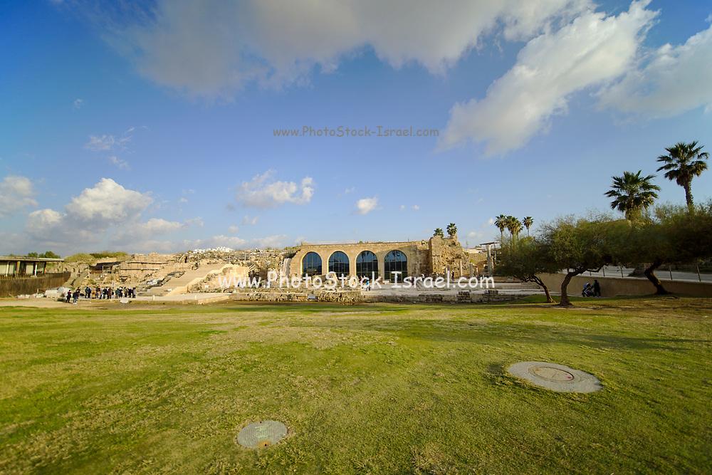 Israel, Caesarea Exterior of the on site New Museum building