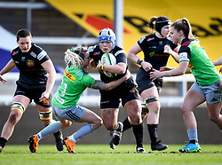 Sachiko Kato of Exeter Chiefs carries into Chloe Rollie of Harlequins - Mandatory by-line: Andy Watts/JMP - 06/02/2021 - Sandy Park - Exeter, England - Exeter Chiefs Women v Harlequins Women - Allianz Premier 15s