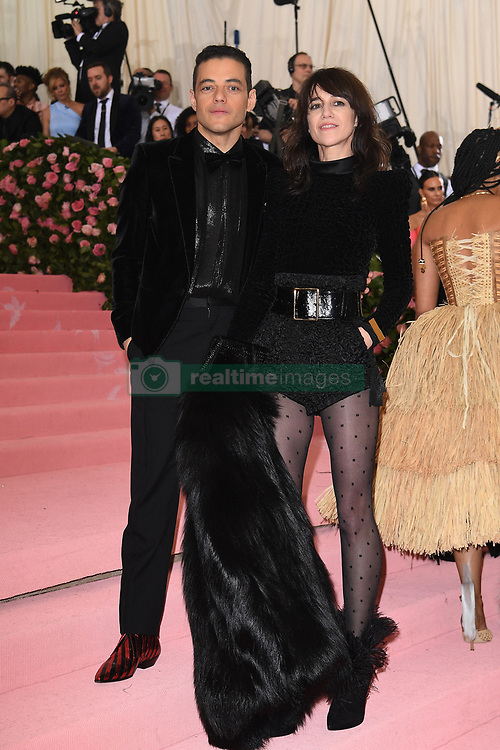 Charlotte Gainsbourg and Rami Malek attend The 2019 Met Gala Celebrating Camp: Notes on Fashion at Metropolitan Museum of Art on May 06, 2019 in New York City.<br /> Photo by ABACAPRESS.COM