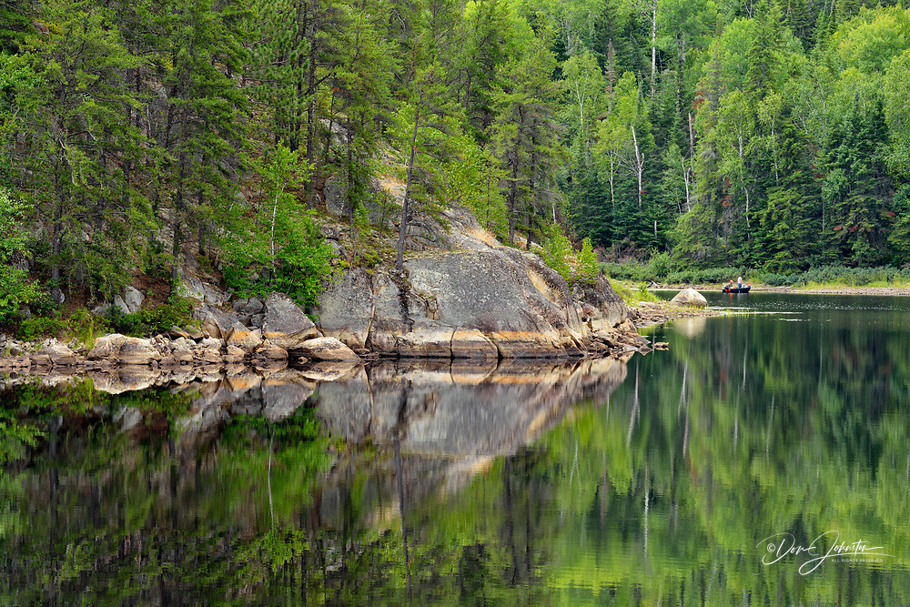 Boreal reflections in Sideburn Lake, Sideburn Lake, Ontario, Canada