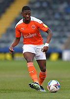 Blackpool's Sullay Kaikai<br /> <br /> Photographer Dave Howarth/CameraSport<br /> <br /> The EFL Sky Bet League One - Rochdale v Blackpool - Tuesday 20th April 2021 - Spotland Stadium - Rochdale<br /> <br /> World Copyright © 2021 CameraSport. All rights reserved. 43 Linden Ave. Countesthorpe. Leicester. England. LE8 5PG - Tel: +44 (0) 116 277 4147 - admin@camerasport.com - www.camerasport.com