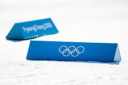 February 5, 2018 - Pyeongchang, SOUTH KOREA - 180205 Course dividers with the Olympic Rings at Alpensia Cross-Country Centre ahead of the 2018 Winter Olympics on February 5, 2018 in Pyeongchang..Photo: Jon Olav Nesvold / BILDBYRN / kod JE / 160137 (Credit Image: © Jon Olav Nesvold/Bildbyran via ZUMA Press)