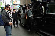 The Red Hot Chili Peppers Anthony Kiedis arrives to MTV studios in Times Square for their appearance of TRL in Manhattan, NY. They have released a new album. 5/9/2006 Photo by Jennifer S. Altman