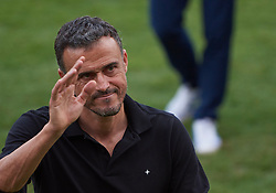 September 11, 2018 - Elche, U.S. - ELCHE, SPAIN - SEPTEMBER 11: Luis Enrique Mart'nez head coach of Spain reacts before the UEFA Nations League A Group four match between Spain and Croatia on September 11, 2018, at Estadio Manuel Martinez Valero in Elche, Spain. (Photo by Carlos Sanchez Martinez/Icon Sportswire) (Credit Image: © Carlos Sanchez Martinez/Icon SMI via ZUMA Press)