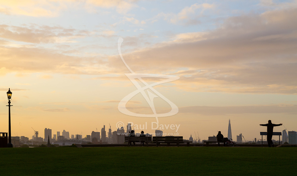 London, September 11 2017. London skyline seen from Primrose Hill as a new day breaks over the city. © Paul Davey