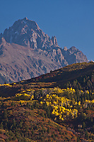 14,150 ft. Mount Sneffels and the Sneffels Range of the San Juan Mountains.  Autumn season, Colorado.