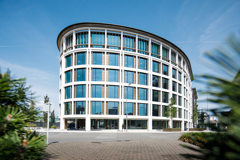 The IFC office buildings in the offshore finance and business centre of Jersey, Channel Islands