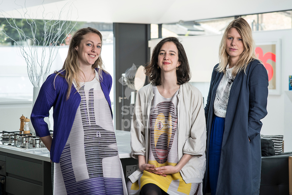 Jessica Reynolds, Catherine Pease and Tatiana von Preussen of vPPR Architects at a client's house in Hammersmith, London.<br /> Picture by Daniel Hambury/Stella Pictures Ltd +44 7813 022858<br /> 30/04/2015