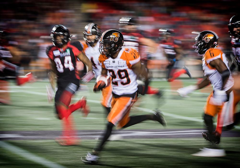 Ottawa RedBlacks vs BC Lions at TD Place Stadium in Ottawa, ON. Canada on  September 22, 2019.<br /> <br /> PHOTO: Steve Kingsman/Freestyle Photography