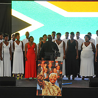 KHAYELITSHA, SOUTH AFRICA - Monday 9 December 2013, the City of Cape Town hosted an Evening of Remembrance at the OR Tambo hall, Khayelitsha. for the late former President of South Africa, Nelson Mandela. The Masi choir performs.<br /> Photo by Roger Sedres/ImageSA