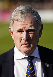 Sutton United owner Bruce Elliott before the Sky Bet League Two match at Borough Sports Ground, Sutton. Picture date: Saturday October 9, 2021.