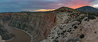 I was just about to leave the Devil Canyon Overlook because I thought the sunset was over. But then the sky suddenly started glowing to the west, and I shot this panorama.