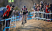 SHOT 1/12/14 4:23:10 PM -  Jeremy Powers (#3) of Easthampton, Ma. competes in the Men's Elite race at the 2014 USA Cycling Cyclo-Cross National Championships at Valmont Bike Park in Boulder, Co. Powers won the event with a time of 59:16.  (Photo by Marc Piscotty / © 2014)