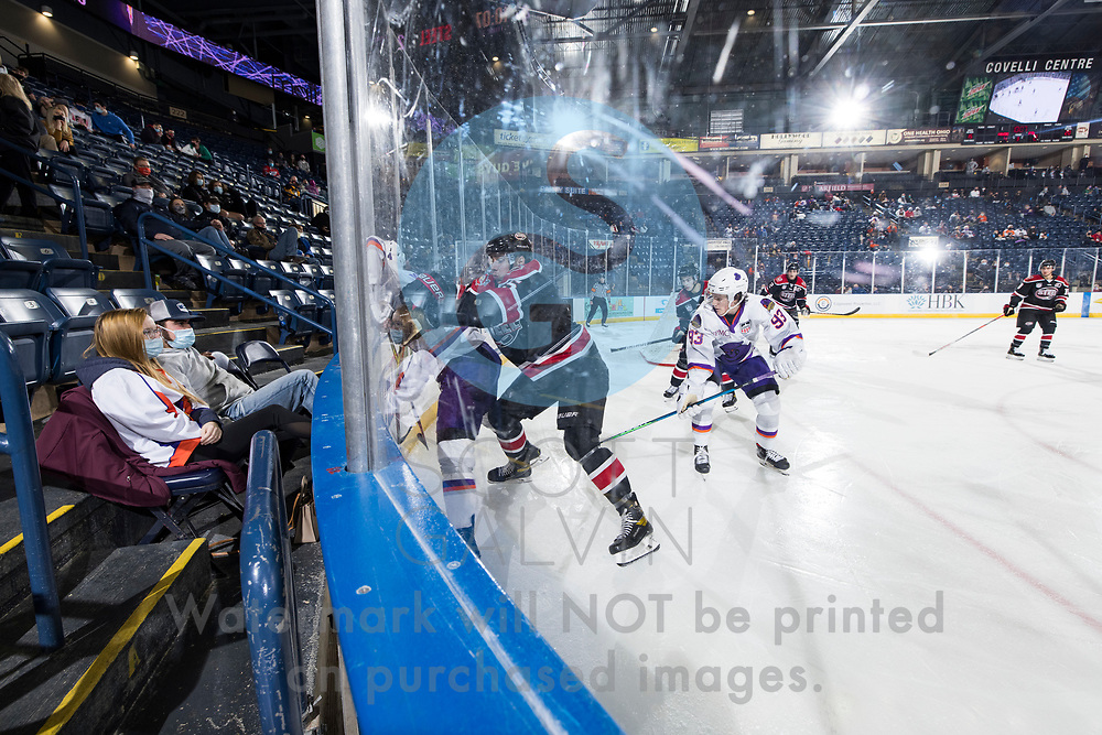 The Youngstown Phantoms defeat the Chicago Steel 5-2 at the Covelli Centre on January 23, 2021.<br /> <br /> Cole Burtch, forward, 93