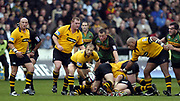 Northampton, Northamptonshire, 2nd October 2004 Northampton Saints vs London Wasps, Zurich Premiership Rugby, Franklyn Gardens, [Mandatory Credit: Peter Spurrier/Intersport Images],<br /> <br /> <br /> <br /> Northampton, Northamptonshire, 2nd October 2004 Northampton Saints vs London Wasps, Zurich Premiership Rugby, Franklyn Gardens, [Mandatory Credit: Peter Spurrier/Intersport Images],<br /> Wasps Matt Dawson distributes the ball from the base of the scrum. <br /> email images@intersport-images.com