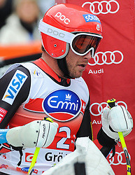 20.12.2013, Saslong, Groeden, ITA, FIS Ski Weltcup, Groeden, Herren, SuperG, im Bild Bode Miller (USA) // Bode Miller of the USA reacts at the finish area during mens Super-G of the Groeden FIS Ski Alpine World Cup at the Saslong Course in Gardena, Italy on 2012/12/20. EXPA Pictures © 2013, PhotoCredit: EXPA/ Johann Groder