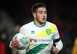 """Norwich City's Emi Buendia during the Carabao Cup, Fourth Round match at the Vitality Stadium, Bournemouth. PRESS ASSOCIATION Photo. Picture date: Tuesday October 30, 2018. See PA story SOCCER Bournemouth. Photo credit should read: Adam Davy/PA Wire. RESTRICTIONS: EDITORIAL USE ONLY No use with unauthorised audio, video, data, fixture lists, club/league logos or """"live"""" services. Online in-match use limited to 120 images, no video emulation. No use in betting, games or single club/league/player publications."""
