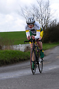 United Kingdom, Finchingfield, Mar 27, 2010:   Images from the 'Jim Perrin' Memorial Hardriders 25.5 mile Sporting TT promoted by Chelmer Cycling Club. Copyright 2010 Peter Horrell.