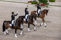 Team Germany, Schneider Dorothee, Werth Isabell, Von Bredow-Werndl Jessica<br /> Olympic Games Tokyo 2021<br /> © Hippo Foto - Dirk Caremans<br /> 27/07/2021