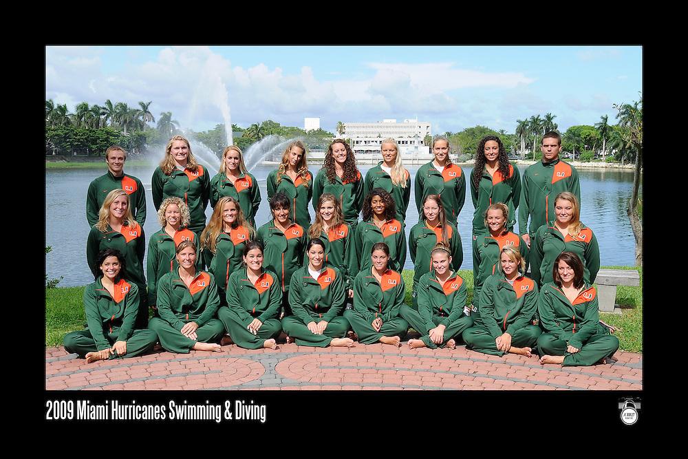 2009 Miami Hurricanes Swimming & Diving Team Photo
