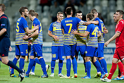 Players of FC Koper during football match between FC Koper (SLO) and Celik Niksic (MNE) in 2nd Leg of 1st Round of Qualification UEFA Europa League 2015 on July 10, 2013 in Bonifika, Koper, Slovenia. Photo by Urban Urbanc / Sportida