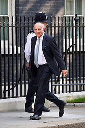"© Licensed to London News Pictures. 29/08/2013. London, UK. Business Secretary Vince Cable arrives for a meeting of the British cabinet on Downing Street in London today (29/08/2013) as a recalled British Parliament prepares to debate the possibility of ""direct"" military action over recent reports an alleged chemical weapons attack in Syria. Photo credit: Matt Cetti-Roberts/LNP"