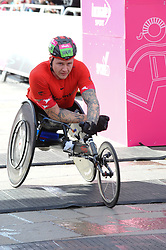 March 10, 2019 - London, United Kingdom - David Weir seen crossing the finishing line during The Vitality Big Half, which has returned for a festival of running and culture to the heart of London in a celebration of the rich and wonderful diversity of the capital city and Finishing it at Cutty Sark. (Credit Image: © Terry Scott/SOPA Images via ZUMA Wire)