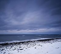 Winter coastline at Eggum, Lofoten islands, Norway