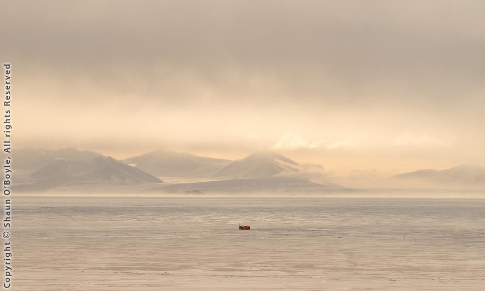 Dive hut on Sea Ice