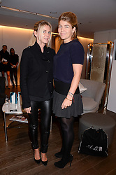 Left to right, STEPHANIE DORRANCE and AMBER NUTTALL at a reception to launch the range of Dr Lancer beauty products held at The Penthouse, Harrods, Knightsbridge, London on 16th September 2013.