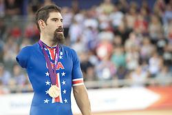 © London News Pictures. 31/08/2012. Stratford, London, UK. Joseph Berenyi - USA - men's individual C3 pursuit gold medal winner. Photo credit should read Manu Palomeque/LNP