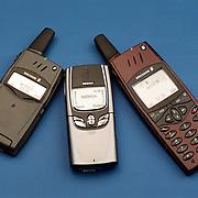 Mobiele telefoons, Ericsson t28s, Nokia 8850, Ericsson R320s
