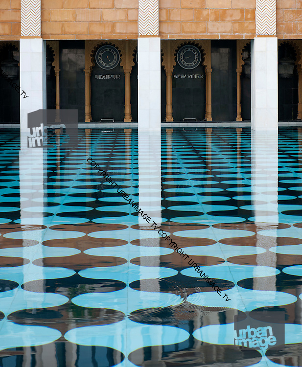 Pool at the Leela Kempinsky Hotel - Udaipur - India 2011