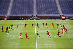 ANN ARBOR, USA - Friday, July 27, 2018: Liverpool players during a training session ahead of the preseason International Champions Cup match between Manchester United FC and Liverpool FC at the Michigan Stadium. (Pic by David Rawcliffe/Propaganda)