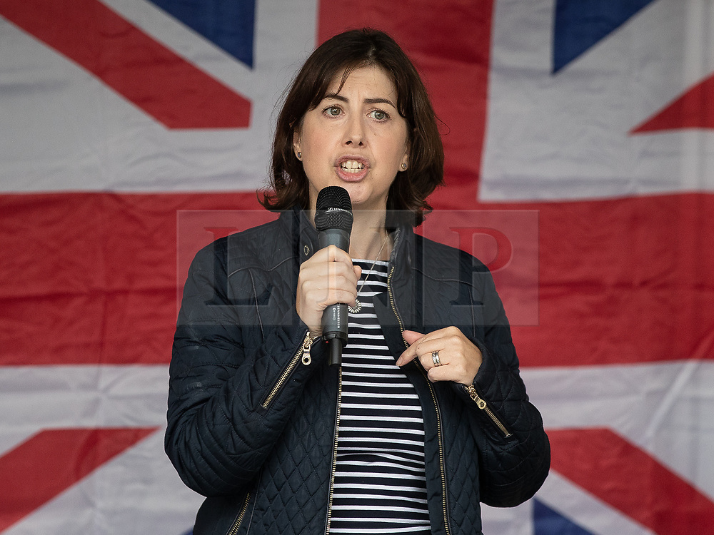 © Licensed to London News Pictures . 16/09/2018. Manchester, UK. LUCY POWELL MP for Manchester Centre . Thousands of people including the UK's Chief Rabbi and several Members of Parliament attend a demonstration against rising anti-Semitism in British politics and society , at Cathedral Gardens in Manchester City Centre . Photo credit : Joel Goodman/LNP