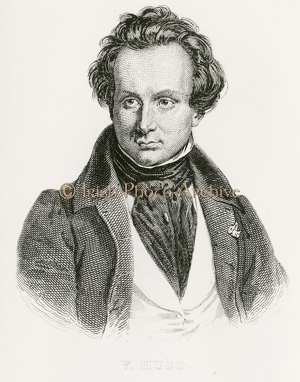 'Victor-Marie Hugo (1802-1885) in 1827, French writer, statesman, poet, playwright, novelist, exponent of the Romantic Movement in France.'