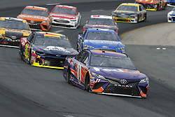 July 22, 2018 - Loudon, New Hampshire, United States of America - Denny Hamlin (11) brings his car through the turns during the Foxwoods Resort Casino 301 at New Hampshire Motor Speedway in Loudon, New Hampshire. (Credit Image: © Chris Owens Asp Inc/ASP via ZUMA Wire)