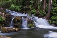 A waterfall at Bowen Park along the Millstone River in Nanaimo, British Columbia, Canada.