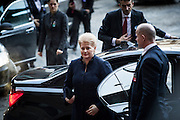 Lithuania's President Dalia Grybauskaite arrives at The Nobel Peace Prize ceremony in Oslo.
