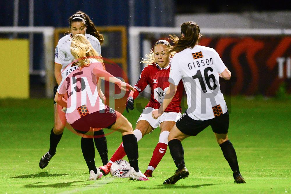 Ebony Salmon of Bristol City Women - Mandatory by-line: Dougie Allward/JMP - 07/10/2020 - FOOTBALL - Twerton Park - Bath, England - Bristol City Women v London Bees - FA Continental Cup