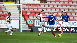 Cowdenbeath's Patrick Scullion scoring their goal. <br /> Dunfermline 7 v 1 Cowdenbeath, SPFL Ladbrokes League Division One game played 15/8/2015 at East End Park.