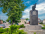 Ulica Piłsudskiego - pomnik powstania sejneńskiego w Sejnach, Polska<br /> Piłsudski Street - a memorial to the Sejny Uprising, Poland