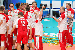 September 30, 2018 - Turin, Piedmont, Italy - The Polish team celebrates the victory after the final match between Brazil and Poland for the FIVB Men's World Championship 2018 at Pala Alpitour in Turin, Italy, on 30 September 2018. Poland won 3: 0 and it is confirmed world champion. (Credit Image: © Massimiliano Ferraro/NurPhoto/ZUMA Press)
