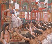 Joseph Dwelleth [Dwelled] in Egypt. Gouache paint on cardboard by James Tissot  1896-1902